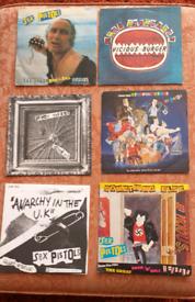 6 Sex Pistols Punk Singles.