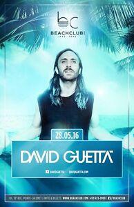 David Guetta beach club 1 billet 50$