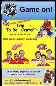 Hockey trip voyage Bell Centre Canadien-Wings nov. 12 2016