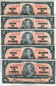Canadian Paper Money & Coins
