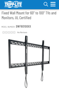 """Tripp Lite fixed wall mount for 60""""-100 TVs"""