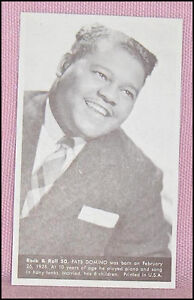 Fats  Domino Number 50  Vintage Rock and Roll Card