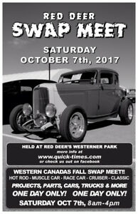 Red Deer Swap Meet Saturday October 7th