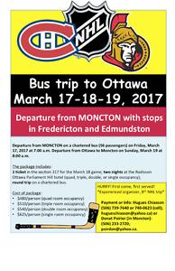 NHL trip to Ottawa - Canadiens-Senators