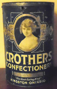 Vintage Advertising Tin Caruthers Confectionery Kingston Ontario Peterborough Peterborough Area image 1