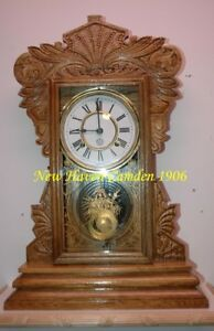 RESTORED horloge antique clock  New Haven Camden 1907