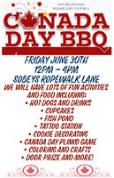 Canada Day BBQ and Activities