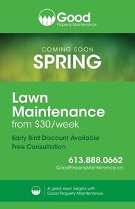 Spring is coming! Book your lawn care early & save!