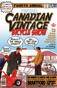 THIS SUNDAY... Canadian Vintage Bicycle Show