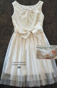 Size 7 Girls Cream Dress