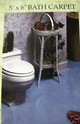 """WALL TO WALL""--BLACK--BATHROOM CARPET-BATH CARPET-RUGS--SIZE = 5 X 8-A GOOD BUY"