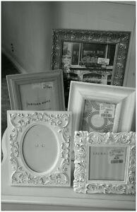 Selection of vintage style photo frames