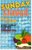 Vendors wanted Capreol Sunday Market