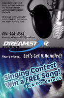 Win a FREE song in the Studio!