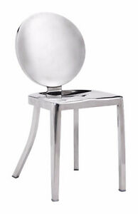POLISHED STAINLESS STEEL DINING CHAIR BAR STOOL COUNTER STOOL
