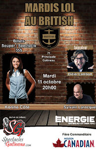 Souper-Spectacle d'humour  11 octobre 2016
