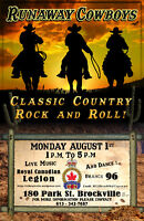 Live Music With Runaway Cowboys!  & Pulled Pork Dinner!