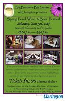 Spring Food, Wine and Beer Festival- Saturday June 3rd 12-4:30pm