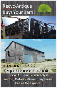 WE PAY UP TO 10K FOR YOUR OLD BARN! Stratford Kitchener Area image 1