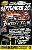 FULL THROTTLE Pinball Launch Party - Sep 20th Vancouver