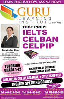 IELTS, CELBAN CELPIP -- Trusted results, TESOL certified teacher