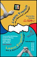 Hit the Books Language School: FSL/ESL, TEFaQ/TOEFL/IELTS by PhD