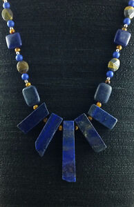 Brand New Lapis And Tiger Eye Necklace