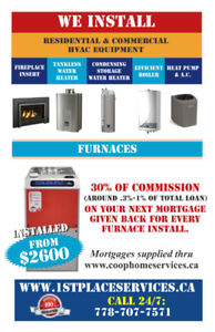 New Furnace Install With $500 Rebate - $3400