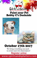 PAINT YOUR PET AT BOBBY C'S IN BOWMANVILLE!