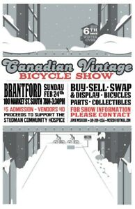 6th Annual Canadian Vintage Bicycle Show and Swap Winter Edition