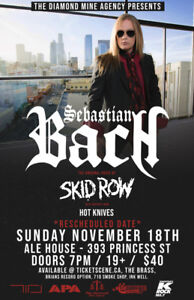 Sebastian Bach Tickets now 1/2 price