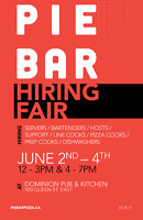 JOB FAIR: PIE BAR - Opening Soon! All FOH positions available!