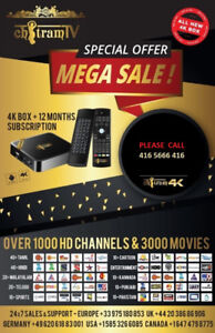 Chitram tv - iptv box + subscription $149 *no monthly payments*