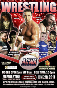 ACWA Wrestling returns to Membertou June 28th.