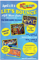 2 Inflatable bouncer event Woodstock  01-02. april 2017