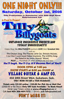 TILLY AND THE BILLYGOATS COMEDY SHOW -  OCT. 1