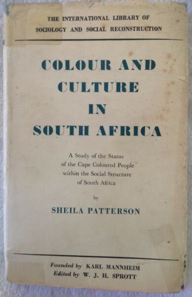 Colour and culture in south africa sheila patterson other colour and culture in south africa sheila patterson fandeluxe Images