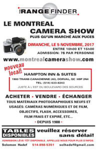 Le Camera Show a Montreal *NOUVEAU LOCAL!*NEW LOCATION*