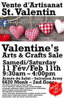 Valentine's Day Arts and Crafts Sale