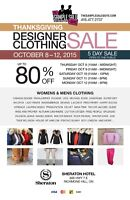 General Help Required for Designer Sample Sale in Richmond Hill