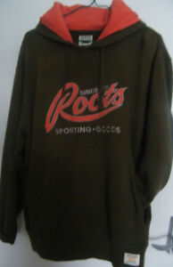 CLASSIC ROOTS OLIVE GREEN/BRIGHT ORANGE HOODIE - YEAR ROUND