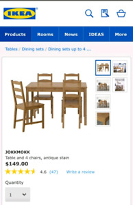 85% new dinning table set