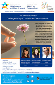 Free Public Talk on Organ Donation at Massey College