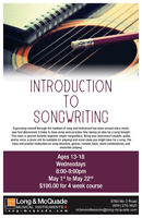 Introduction to Songwriting for Teens