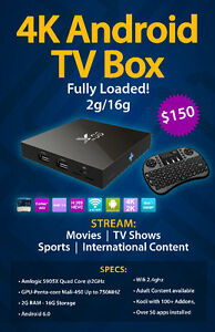 Fully loaded x96 Android 6.0 TV Box 2G/16G
