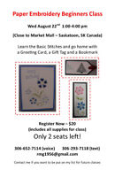 PAPER EMBROIDERY BEGINNERS CLASS