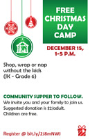 Free Christmas Kids Camp - Take a Parent's Time Out!
