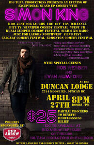 Comedy show with Simon King! In Duncan