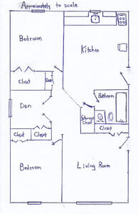 2 bedrooms + small room