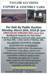 Taylor Auctions Export and Assembly Yard Property and Buildings